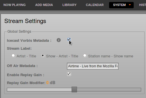 chapter: Stream-Settings / Airtime Pro for Broadcasters